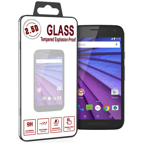 9H Tempered Glass Screen Protector for Motorola Moto G 3rd Gen - Clear